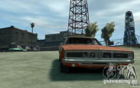 Dodge Charger General Lee v1.1 для GTA 4 вид сзади