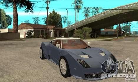 Spyker C12 Zagato для GTA San Andreas вид сзади