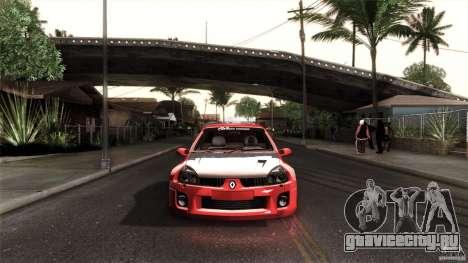 Renault Clio V6 Sport Track Car для GTA San Andreas вид слева