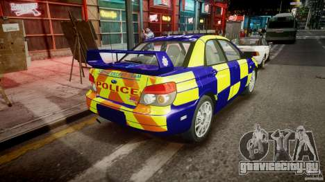 Subaru Impreza WRX Police [ELS] для GTA 4 вид сбоку
