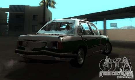 BMW E30 Sedan Police для GTA San Andreas вид справа