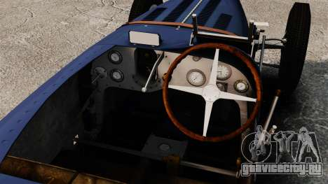 Bugatti Type 51 для GTA 4 вид сзади