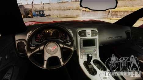 Chevrolet Corvette Z51 для GTA 4 вид сзади