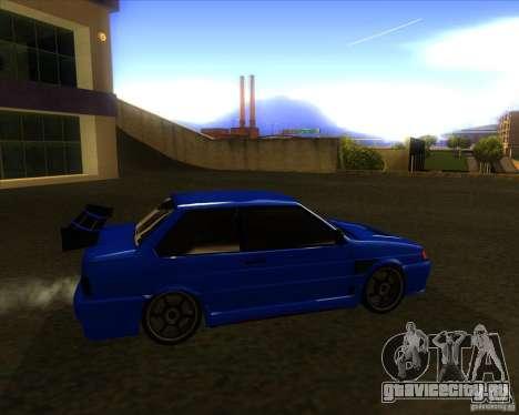 ВАЗ 2115 coupe для GTA San Andreas вид сзади слева