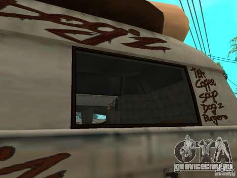 Чистые стекла в Hotdog-е для GTA San Andreas вид справа
