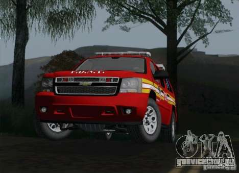 Chevrolet Suburban EMS Supervisor 862 для GTA San Andreas вид справа