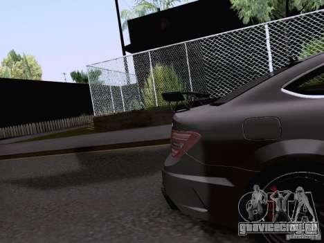 Mercedes-Benz C63 AMG Coupe Black Series для GTA San Andreas вид сбоку