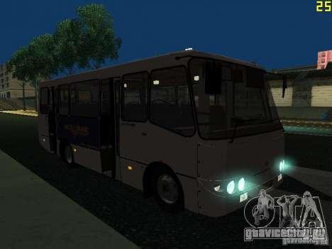 Богдан A09202 v2 для GTA San Andreas вид изнутри