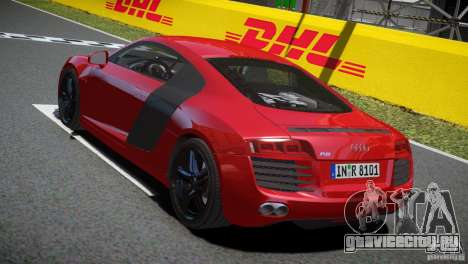 Audi R8 V8 2008 v2.0 для GTA 4 вид справа