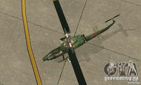 AH-1 super cobra для GTA San Andreas вид сзади