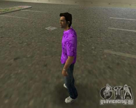 Фиолетовая рубашка для GTA Vice City второй скриншот