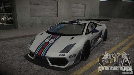Lamborghini Gallardo LP560-4 GT3 для GTA San Andreas вид снизу