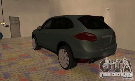 Porsche Cayenne Turbo 2012 для GTA San Andreas вид слева