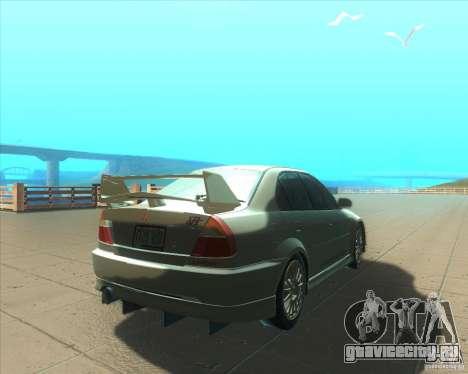 Mitsubishi Lancer Evolution VI 1999 Tunable для GTA San Andreas колёса