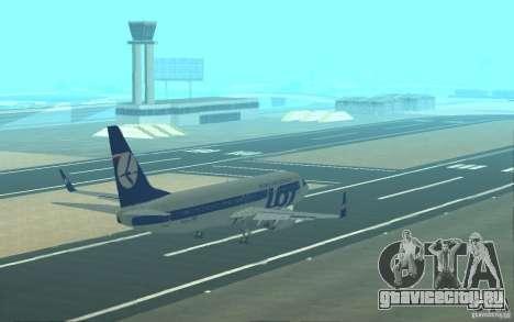 Boeing 737 LOT Polish Airlines для GTA San Andreas двигатель