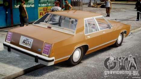 Ford Crown Victoria 1983 для GTA 4 вид сзади слева