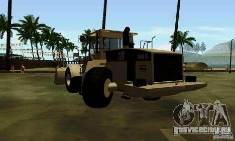Бульдозер CAT для GTA San Andreas вид сзади слева