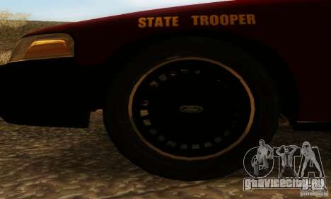 Ford Crown Victoria Minnesota Police для GTA San Andreas вид сзади слева