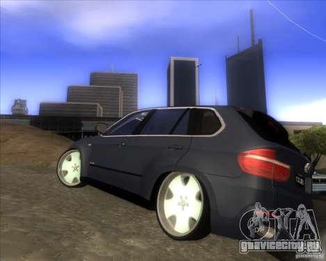 BMW X5 dubstore для GTA San Andreas вид сзади слева