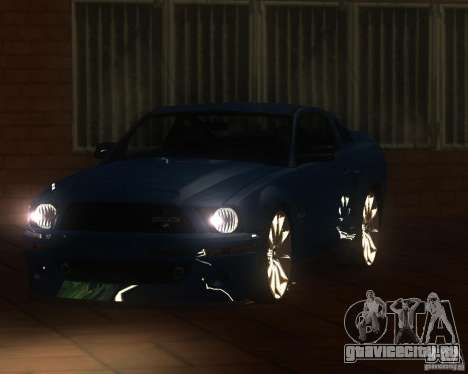 Shelby Mustang 2009 для GTA San Andreas вид сзади слева