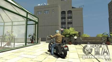 Zombie Bike Paintjob для GTA 4 вид сзади слева