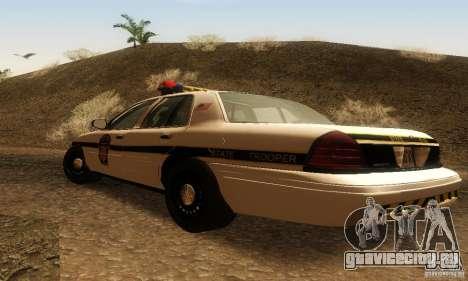 Ford Crown Victoria Pennsylvania Police для GTA San Andreas вид слева