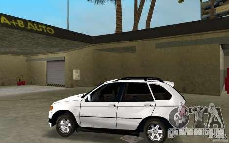 BMW X5 для GTA Vice City вид слева
