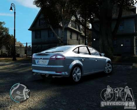 Ford Mondeo 2009 v1.0 для GTA 4 вид справа