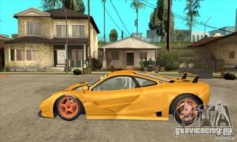 McLAREN F1 GTR GULF 1996 для GTA San Andreas вид слева