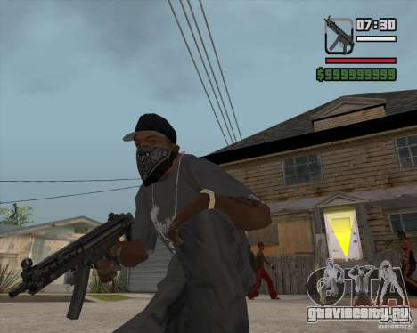 New MP5 (Submachine gun) для GTA San Andreas третий скриншот