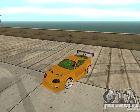 Toyota Supra TwinTurbo для GTA San Andreas вид изнутри