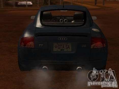 Audi TT 3.2 Quattro для GTA San Andreas вид сзади