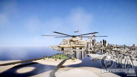 MH-53 Pavelow v1.1 для GTA 4 вид слева