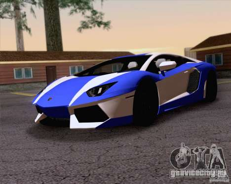 Lamborghini Aventador LP700-4 2011 для GTA San Andreas двигатель