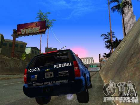 Chevrolet Tahoe 2008 Police Federal для GTA San Andreas вид справа
