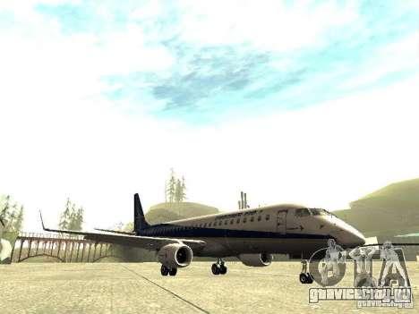 Embraer E-190 для GTA San Andreas вид слева