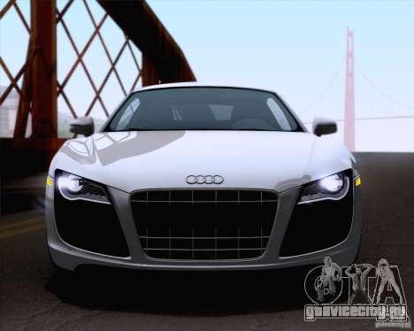 Audi R8 v10 2010 для GTA San Andreas вид сзади слева
