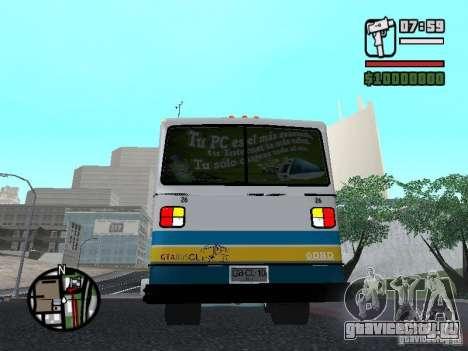 Cuatro Ases M.Benz LO608D для GTA San Andreas вид справа