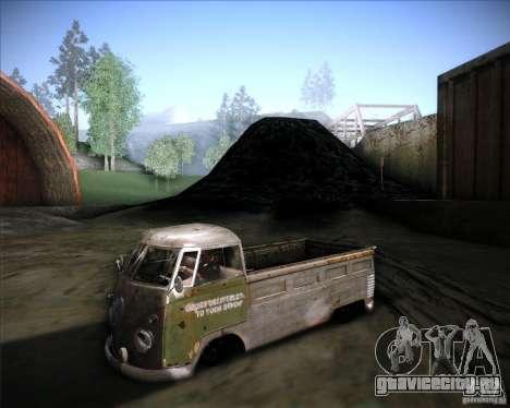 Volkswagen Transporter T1 rat pickup для GTA San Andreas