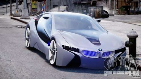 BMW Vision Efficient Dynamics v1.1 для GTA 4 вид сзади