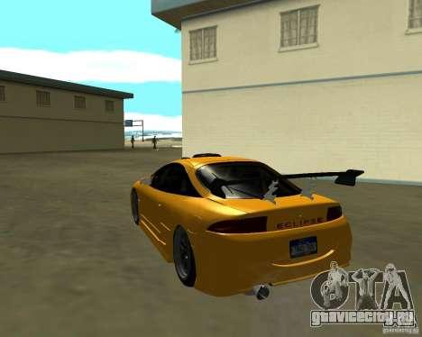 Mitsubushi Eclipse GSX tuning для GTA San Andreas вид сзади слева