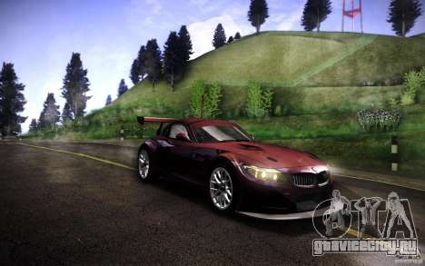 BMW Z4 E89 GT3 2010 для GTA San Andreas вид сзади слева