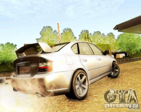 Subaru Legacy 3.0 R tuning для GTA San Andreas вид сзади слева
