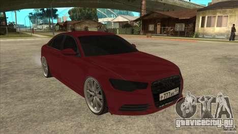 Audi A6 (C7) для GTA San Andreas вид сзади