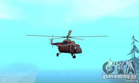 МИ-17 гражданский (Русский) для GTA San Andreas вид изнутри