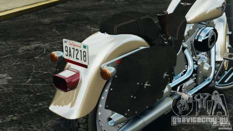Harley Davidson Softail Fat Boy 2013 v1.0 для GTA 4 салон