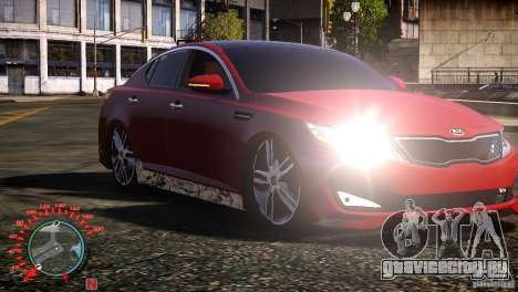 Kia Optima Dub для GTA 4 вид слева