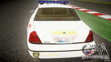 Ford Crown Victoria US Marshal [ELS] для GTA 4 салон