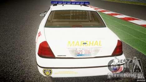 Ford Crown Victoria US Marshal [ELS] для GTA 4 салон