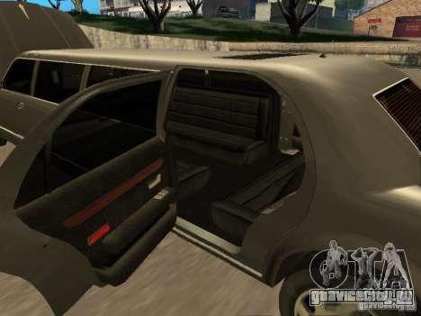 HD Stretch для GTA San Andreas вид изнутри